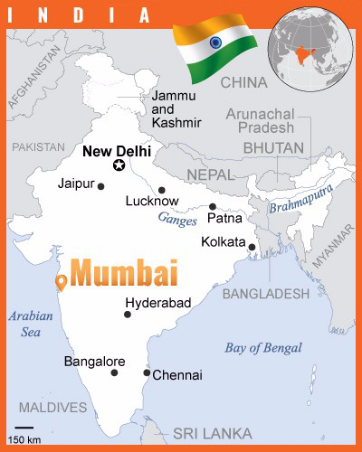 India-Mumbai-Map